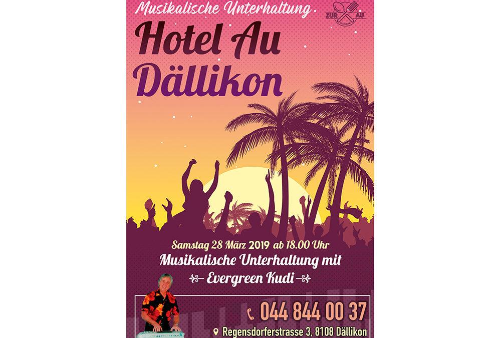 hotel zur au samstag event poster