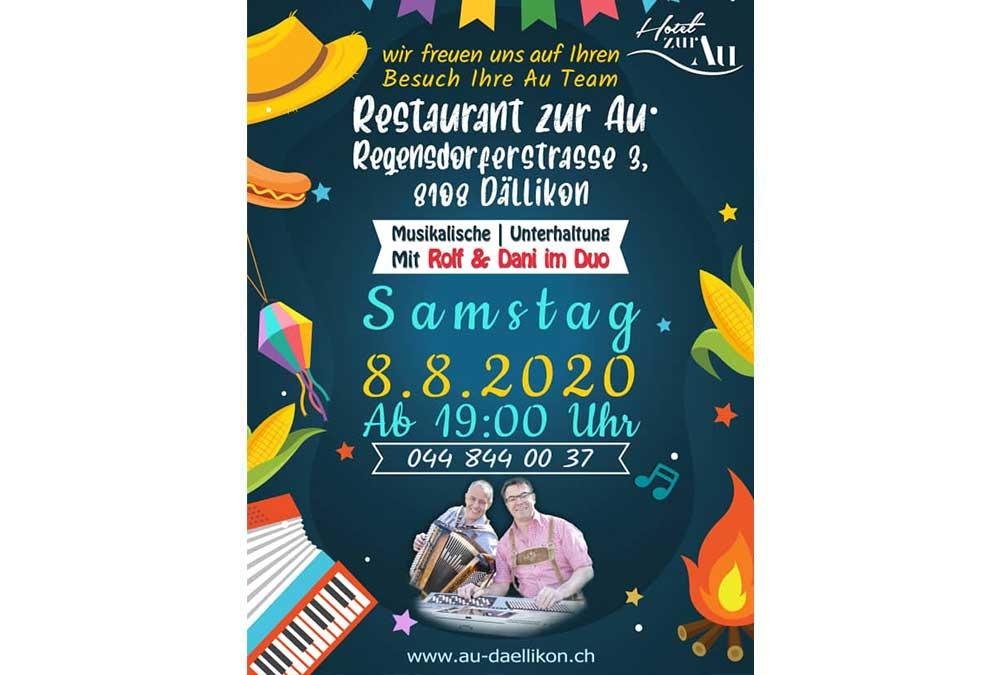Musikalische – Unterhaltung mit Rolf & Dani im Duo