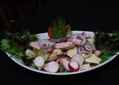 Emmentaler Wurst-Käse Salat