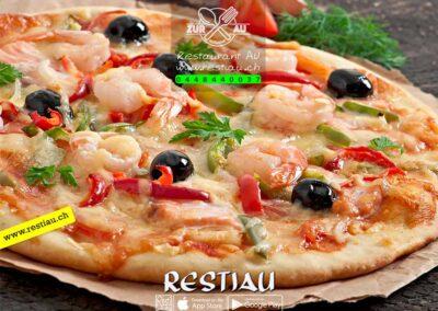 pizza Frutti di Mare & Riesencrevetten