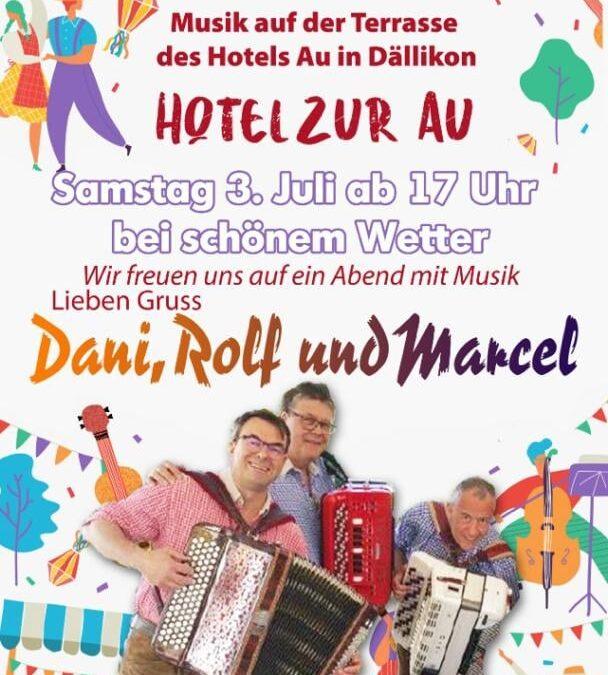 Musik auf der Terrasse des Hotel Zur Au in Dällikon – 03, JULI 2021
