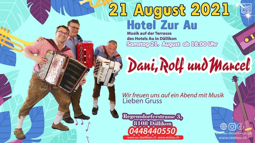 Musik auf der Terrasse des Hotel Zur Au | Samstag 21. August