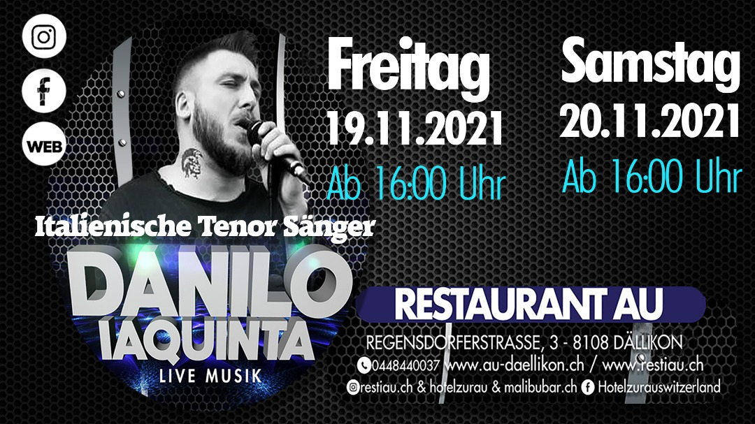 Musikalische Unterhaltung mit Danilo Iaquinta (19.11.2021) und (20.11.2021)